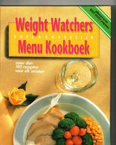 WEIGHTWATCHERS MENU KOOKBOEK